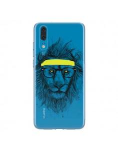 Coque Huawei P20 Hipster Lion Transparente - Balazs Solti