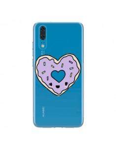 Coque Huawei P20 Donuts Heart Coeur Violet Transparente - Claudia Ramos