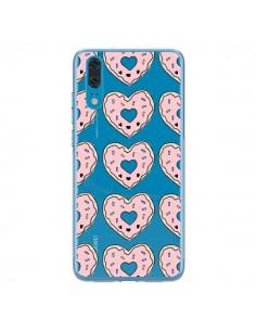 Coque Huawei P20 Donuts Heart Coeur Rose Pink Transparente - Claudia Ramos