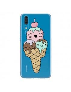 Coque Huawei P20 Ice Cream Glace Summer Ete Cerise Transparente - Claudia Ramos