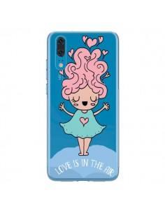 Coque Huawei P20 Love Is In The Air Fillette Transparente - Claudia Ramos