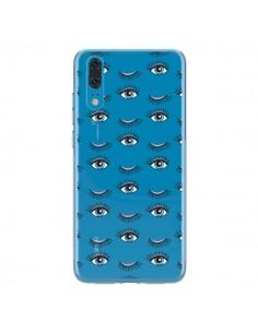 Coque Huawei P20 Eyes Oeil Yeux Bleus Mosaïque Transparente - Léa Clément
