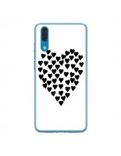 Coque Huawei P20 Coeur en coeurs noirs - Project M