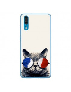 Coque Huawei P20 Chat à lunettes françaises - Gusto NYC