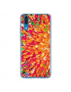 Coque Huawei P20 Fleurs Oranges Neon Splash - Ebi Emporium