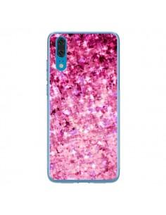 Coque Huawei P20 Romance Me Paillettes Roses - Ebi Emporium