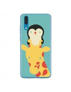 Coque Huawei P20 Girafe Pingouin Meilleure Vue Better View - Jay Fleck