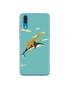Coque Huawei P20 Girafe Epee Requin Volant - Jay Fleck