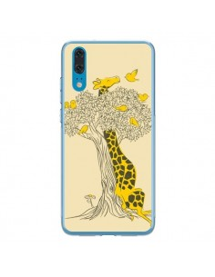 Coque Huawei P20 Girafe Amis Oiseaux - Jay Fleck