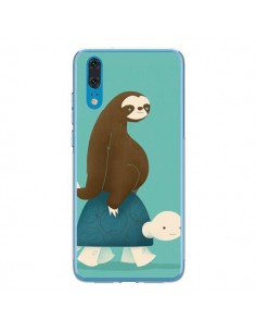 Coque Huawei P20 Tortue Taxi Singe Slow Ride - Jay Fleck
