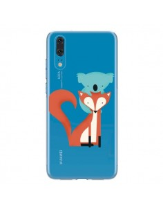 Coque Huawei P20 Renard et Koala Love Transparente - Jay Fleck