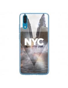 Coque Huawei P20 I Love New York City Gris - Javier Martinez