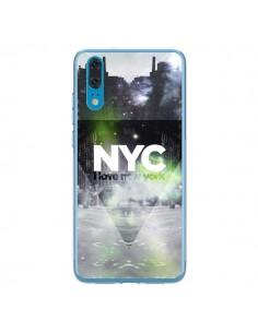 Coque Huawei P20 I Love New York City Vert - Javier Martinez