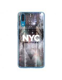 Coque Huawei P20 I Love New York City Violet - Javier Martinez