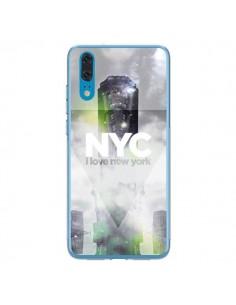 Coque Huawei P20 I Love New York City Gris Vert - Javier Martinez
