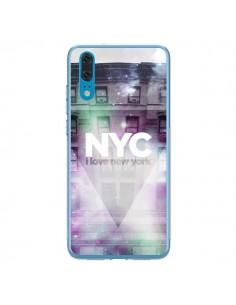 Coque Huawei P20 I Love New York City Violet Vert - Javier Martinez