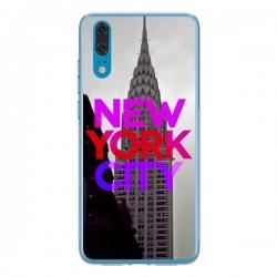 Coque Huawei P20 New York City Rose Rouge - Javier Martinez