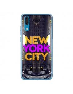Coque Huawei P20 New York City Orange Violet - Javier Martinez