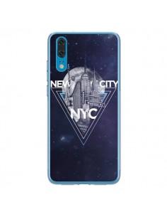 Coque Huawei P20 New York City Triangle Bleu - Javier Martinez