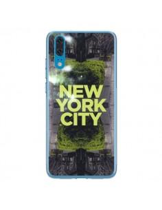 Coque Huawei P20 New York City Vert - Javier Martinez