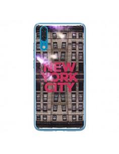 Coque Huawei P20 New York City Buildings Rouge - Javier Martinez