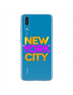 Coque Huawei P20 New York City NYC Orange Rose Transparente - Javier Martinez