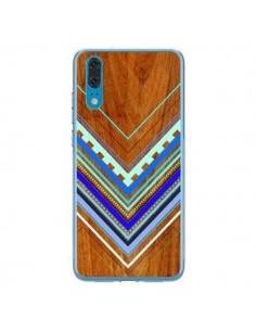 Coque Huawei P20 Azteque Arbutus Blue Bois Aztec Tribal - Jenny Mhairi