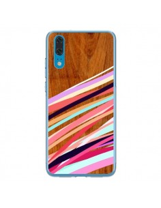 Coque Huawei P20 Wooden Waves Coral Bois Azteque Aztec Tribal - Jenny Mhairi