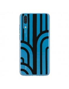 Coque Huawei P20 Geometric Noir Transparente - Dricia Do