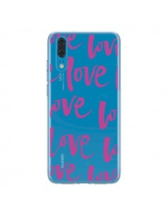 Coque Huawei P20 Love Love Love Amour Transparente - Dricia Do