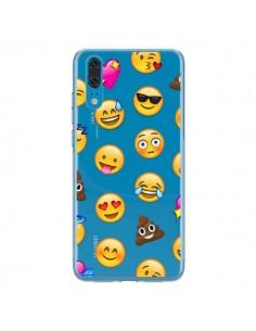 Coque Huawei P20 Emoticone Emoji Transparente - Laetitia