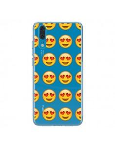 Coque Huawei P20 Love Amoureux Smiley Emoticone Emoji Transparente - Laetitia
