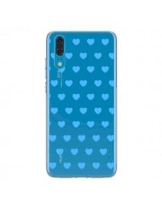 Coque Huawei P20 Coeur Heart Love Amour Bleu Transparente - Laetitia