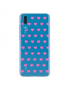 Coque Huawei P20 Coeur Heart Love Amour Rose Transparente - Laetitia