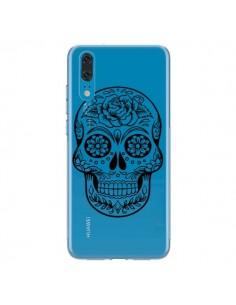 Coque Huawei P20 Tête de Mort Mexicaine Noir Transparente - Laetitia