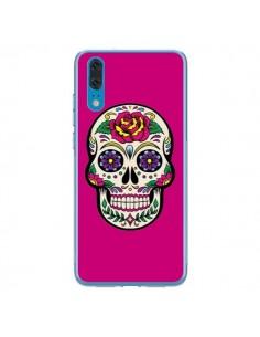 Coque Huawei P20 Tête de Mort Mexicaine Rose Fushia - Laetitia