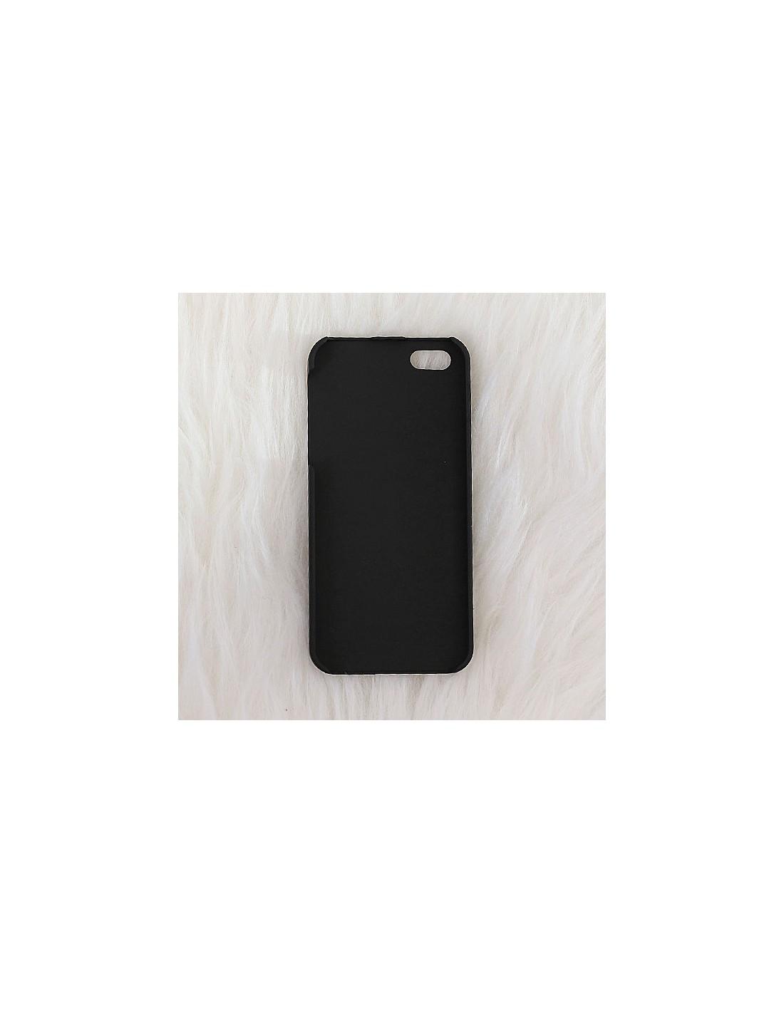 Coque girafe en miroir noir gravure dor e pour iphone 5 et for Application miroir pour iphone