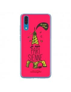 Coque Huawei P20 Je suis Parisienne La Tour Eiffel Rose - Leellouebrigitte