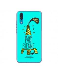 Coque Huawei P20 Je suis Parisienne La Tour Eiffel Bleu - Leellouebrigitte