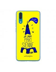 Coque Huawei P20 Je suis Parisienne La Tour Eiffel Jaune - Leellouebrigitte
