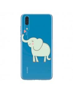 Coque Huawei P20 Elephant Elefant Animal Coeur Love Transparente - Petit Griffin