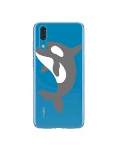 Coque Huawei P20 Orque Orca Ocean Transparente - Petit Griffin
