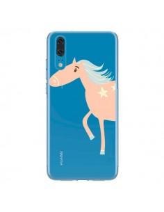 Coque Huawei P20 Licorne Unicorn Rose Transparente - Petit Griffin