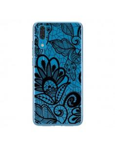 Coque Huawei P20 Lace Fleur Flower Noir Transparente - Petit Griffin