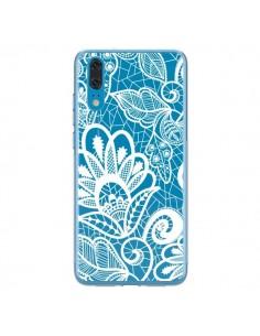 Coque Huawei P20 Lace Fleur Flower Blanc Transparente - Petit Griffin