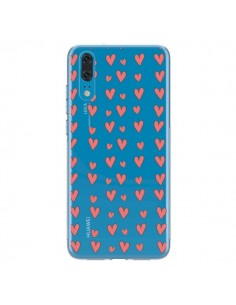 Coque Huawei P20 Coeurs Heart Love Amour Rouge Transparente - Petit Griffin