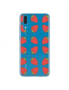 Coque Huawei P20 Fraise Fruit Strawberry Transparente - Petit Griffin