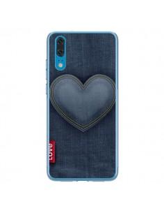 Coque Huawei P20 Love Coeur en Jean - Lassana