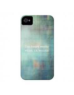 Coque The heart wants what it wants Coeur pour iPhone 4 et 4S - Sylvia Cook