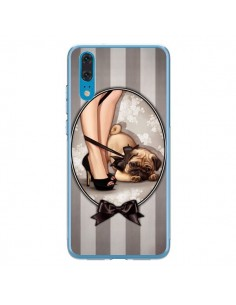 Coque Huawei P20 Lady Noir Noeud Papillon Chien Dog Luxe - Maryline Cazenave